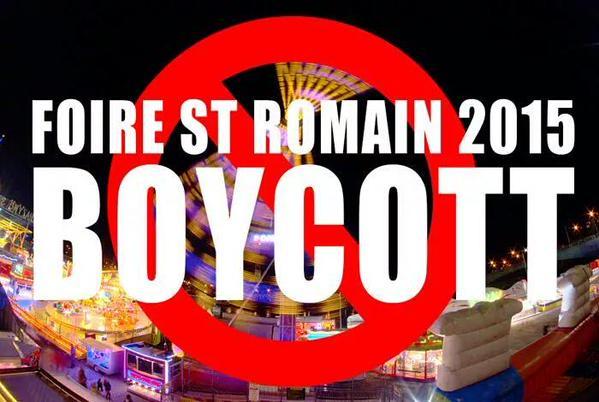 Boycott Foire de rouen