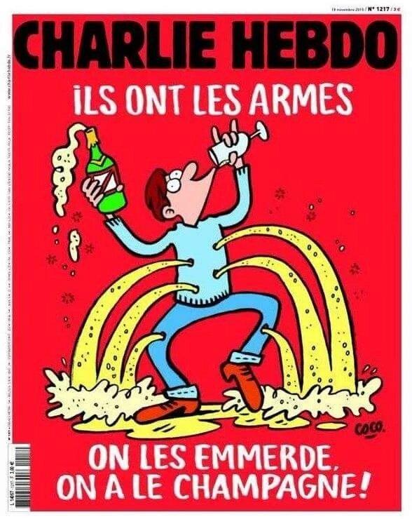 Une Charlie Hebdo 18 Novembre 2015