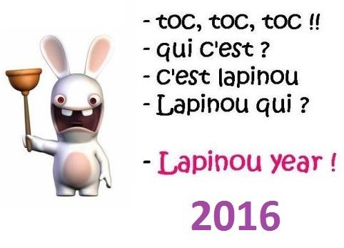 Lapinou Bonne Annee 2016 Lapins Cretins minions