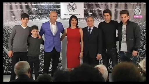 Famille Zidane Real Madrid
