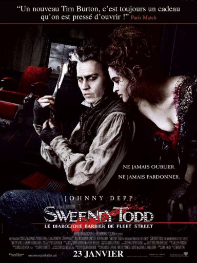 Sweeney Todd affiche tim burton johnny deep