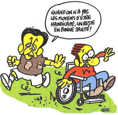 Sarkozy Handicap Charb Charlie Hebdo