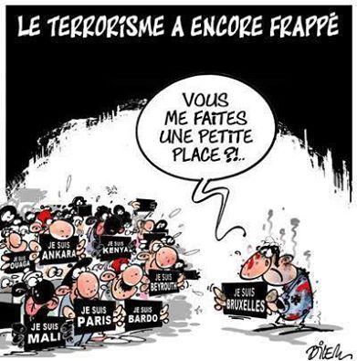 caricature attentats belgique