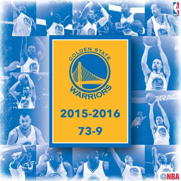 Golden State Warriors 73 victoires NBA Logo
