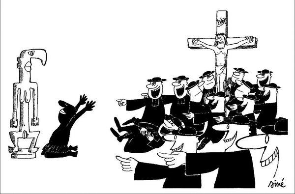 Siné croyant caricature
