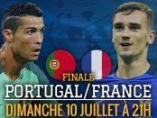 affiche France Portugal Finale Euro 2016 Griezmann Ronaldo